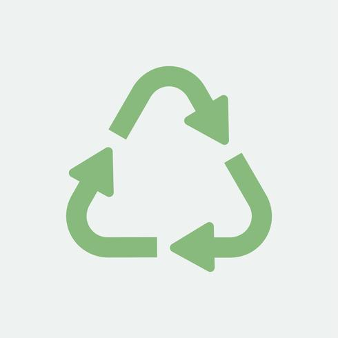 Recycle eco symbol isolated on background.