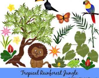 Rainforest Ecosystem Clip Art.