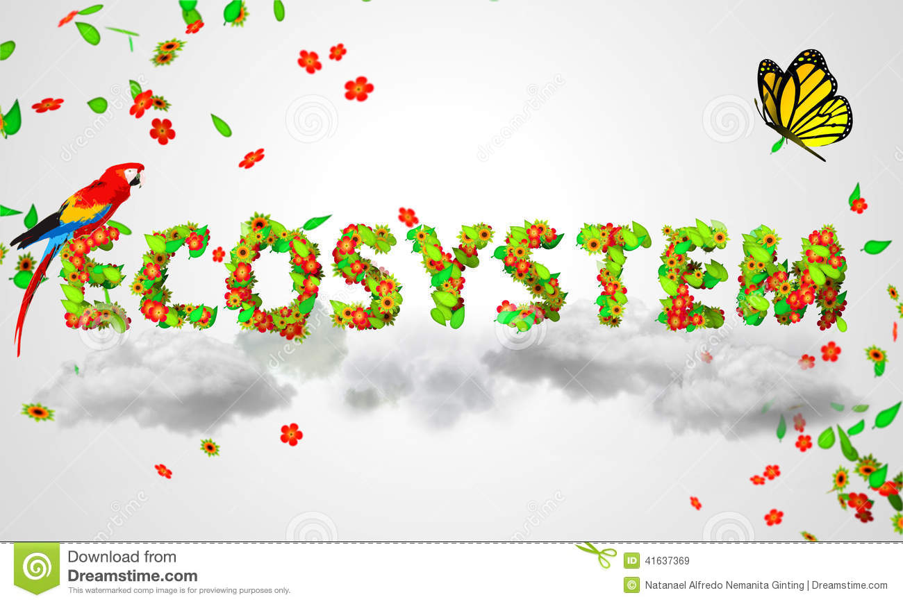 3D Digital Ecosystem Royalty Free Stock Images.