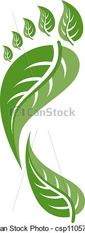 Vector Clip Art of Eco Friendly Footprint Illustration csp11057115.