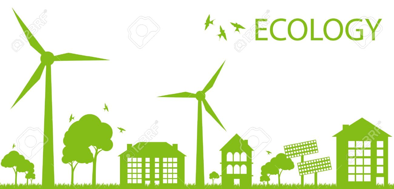 Green Eco City Ecology Background Concept Royalty Free Cliparts.