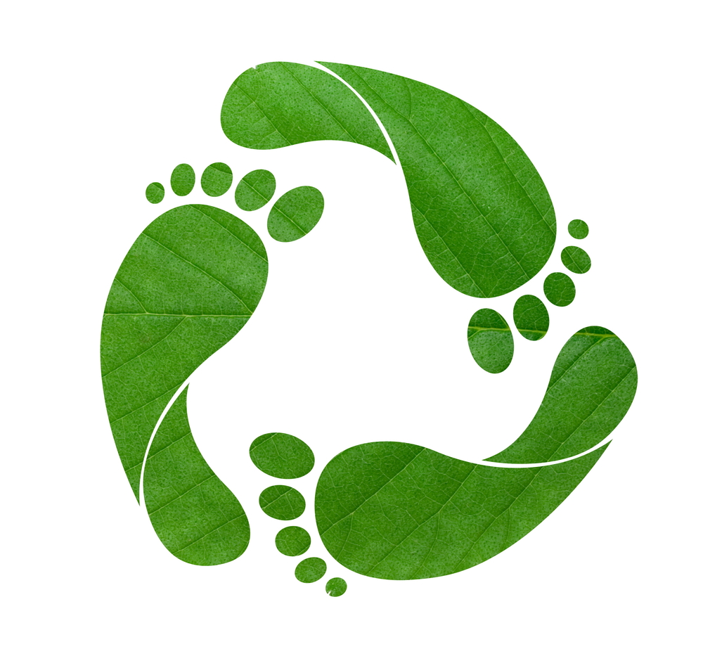 Ecological footprint clipart.