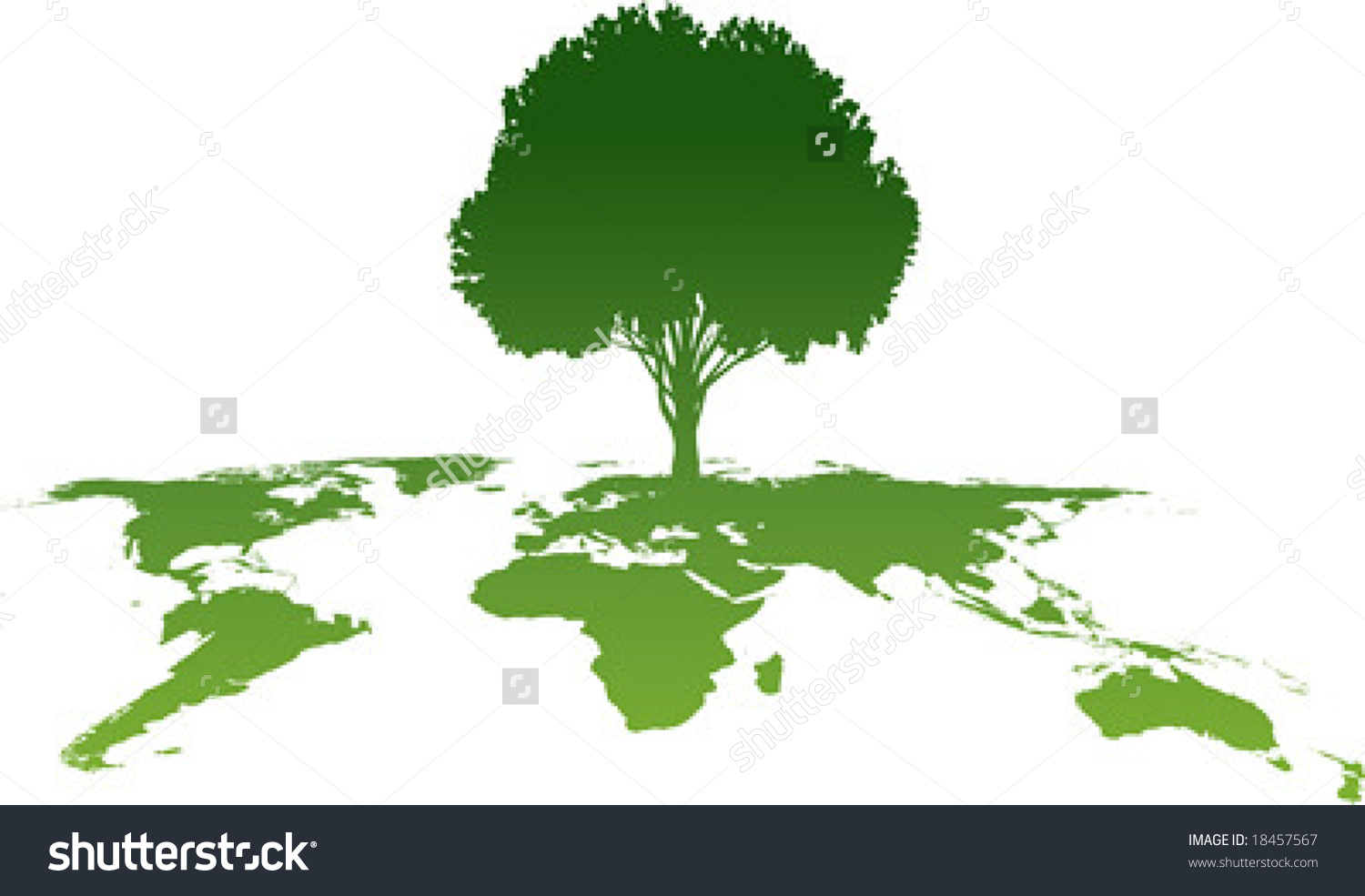 Vector Clip Art Ecology Green World Stock Vector 18457567.
