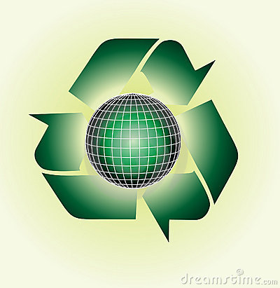 Vector Clip Art Of An Ecological Green, Glossy Glo Royalty Free.