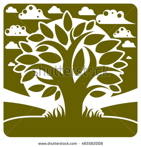 Ecology Doodle Set Tree Hands Leaves Stock Vector 374603137.