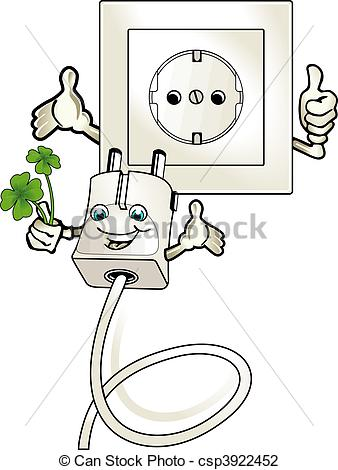 Clip Art of ecologically worthwhile electric current csp3922452.