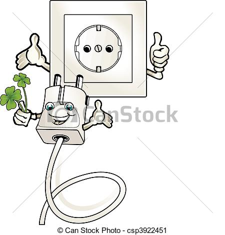 Vector Clip Art of ecologically worthwhile electric current.