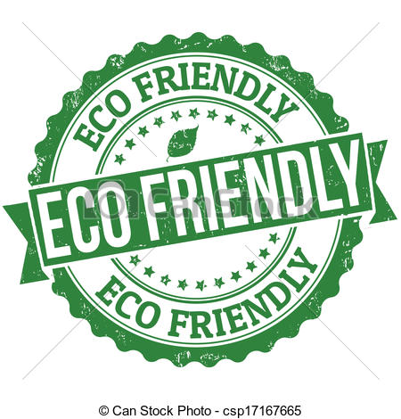 Clip Art Vector of Eco friendly stamp.