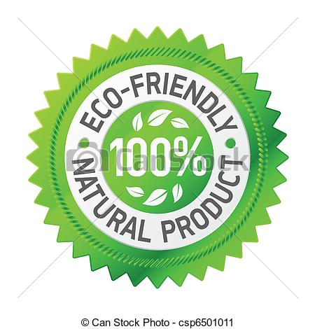 Vector Clip Art of Sign of an eco.