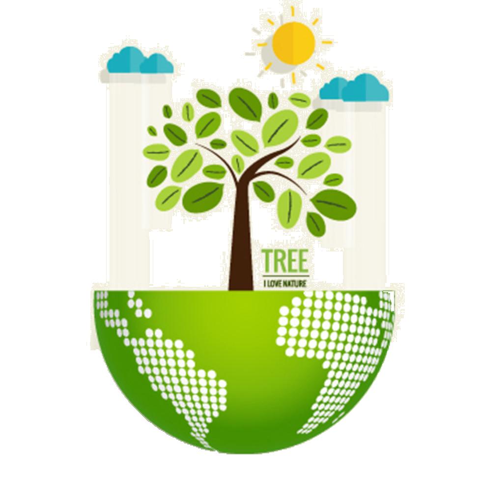 Nature Environmentally friendly Ecology Illustration.