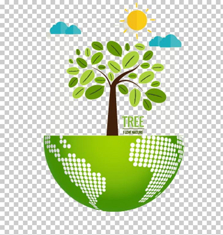Nature Environmentally friendly Ecology Illustration, Green.