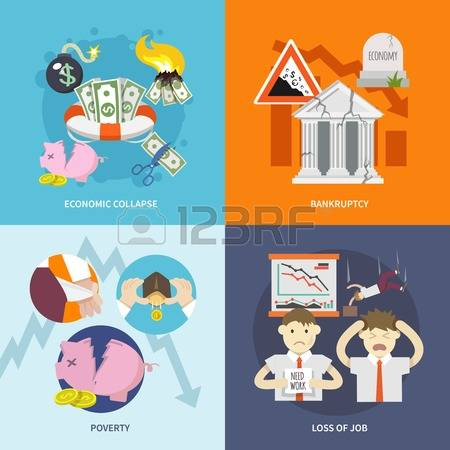 1,850 Economic Collapse Cliparts, Stock Vector And Royalty Free.