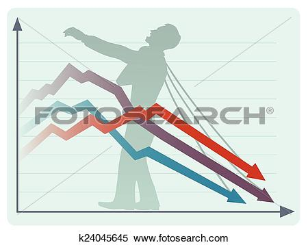 Clipart of The economic collapse k24045645.