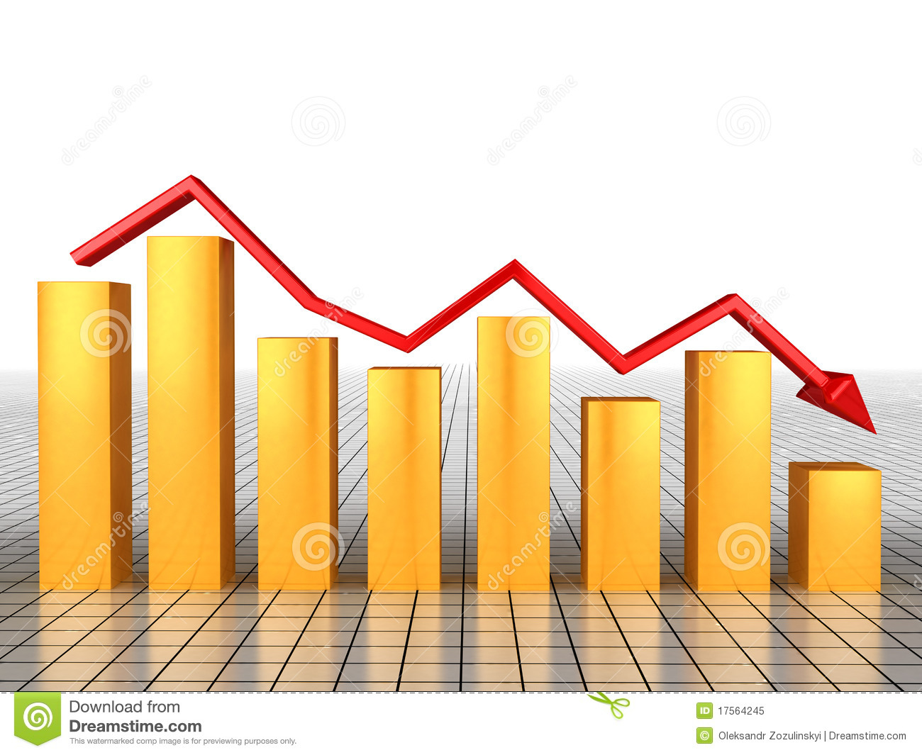 The Economic Collapse Of The Schedule №3 Royalty Free Stock Photo.