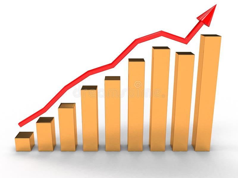 Economic Growth Chart Clipart.