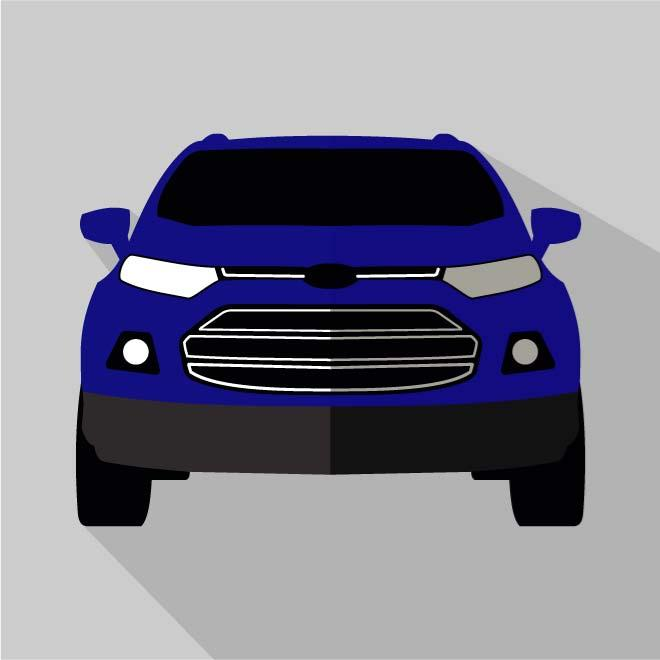 CAR MODEL FORD ECOSPORT VECTOR.