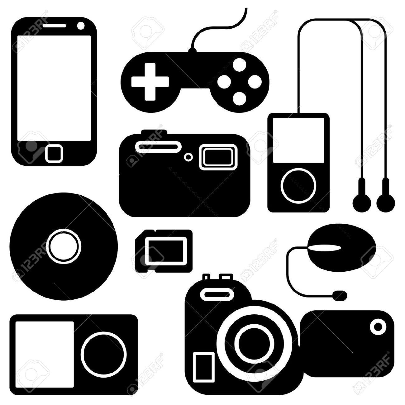Clip art electronics.