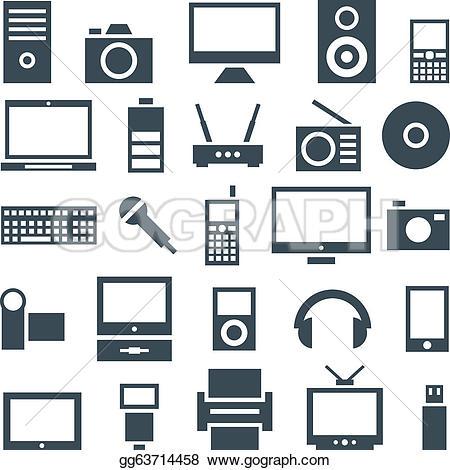 Electronics Icon Clip Art.