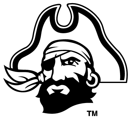 Ecu pirate logo clipart.