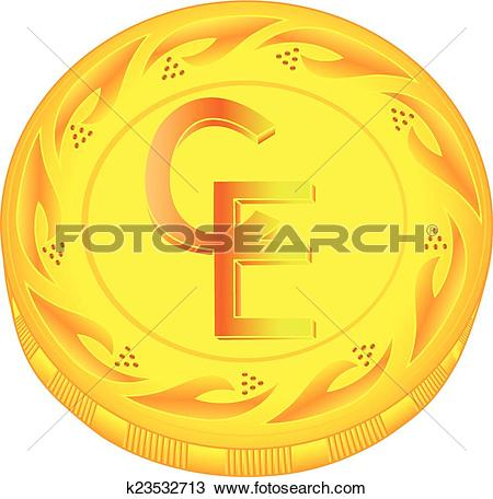 Clipart of Ecu coin k23532713.