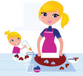 Woman Baking Clipart.