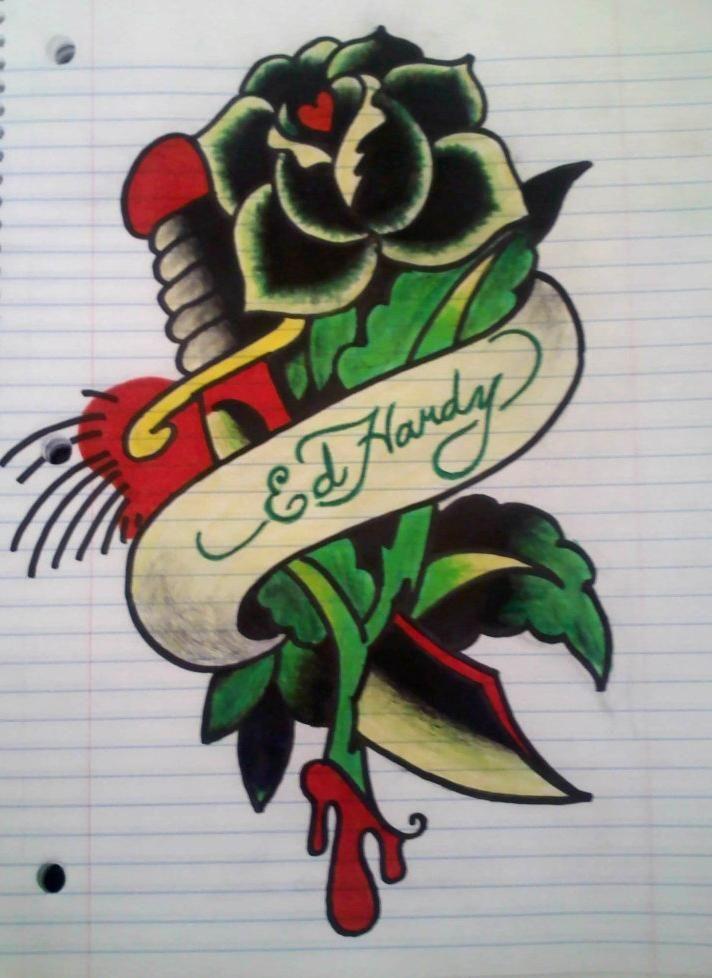 Ed Hardy drawing by los19.deviantart.com on @deviantART.
