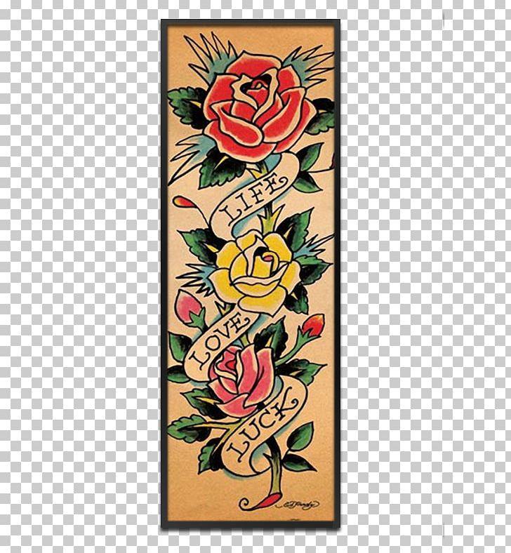 Tattoo Flash Ed Hardy Tattoo Artist Floral Design PNG, Clipart, Art.