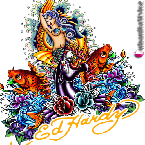 Ed Hardy Collage (PSD).