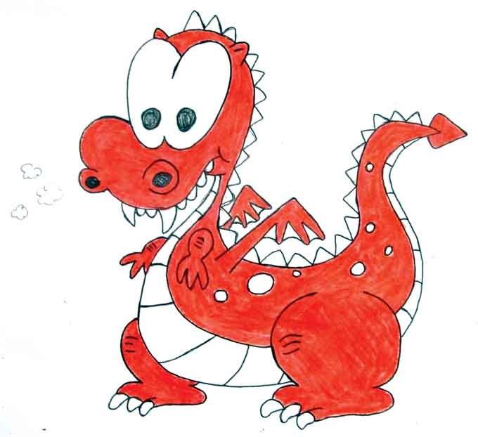 Youth creates new Derynoski dragon mascot.