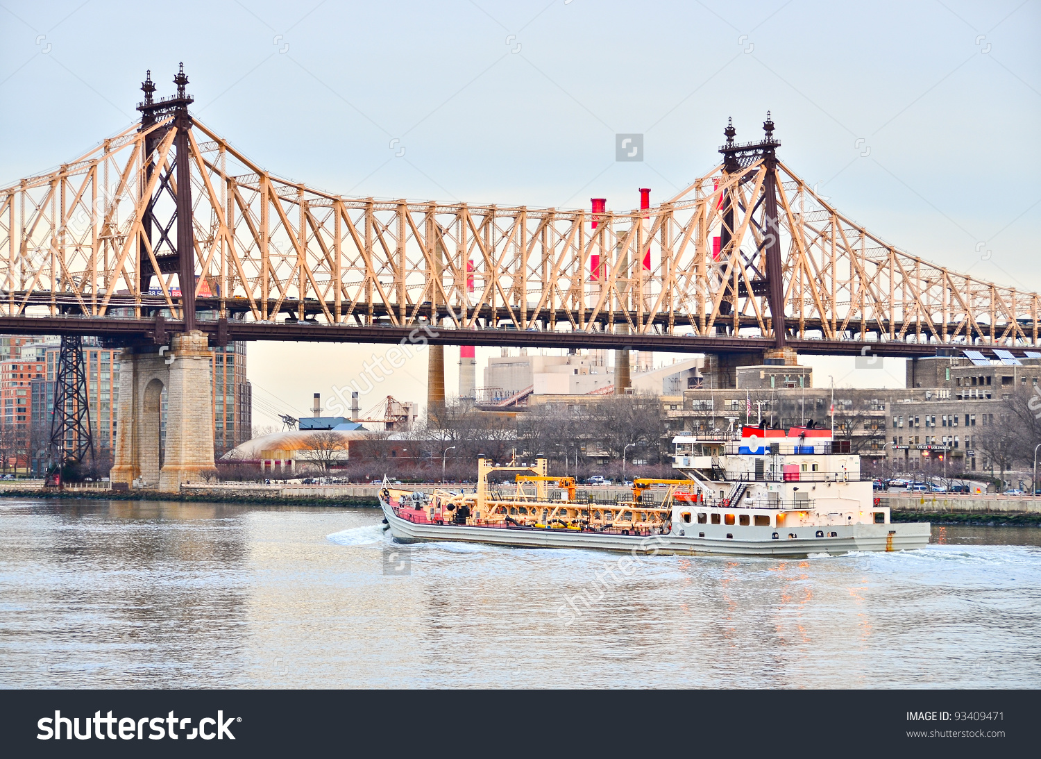 Ed Koch Queensboro Bridge New York Stock Photo 93409471.