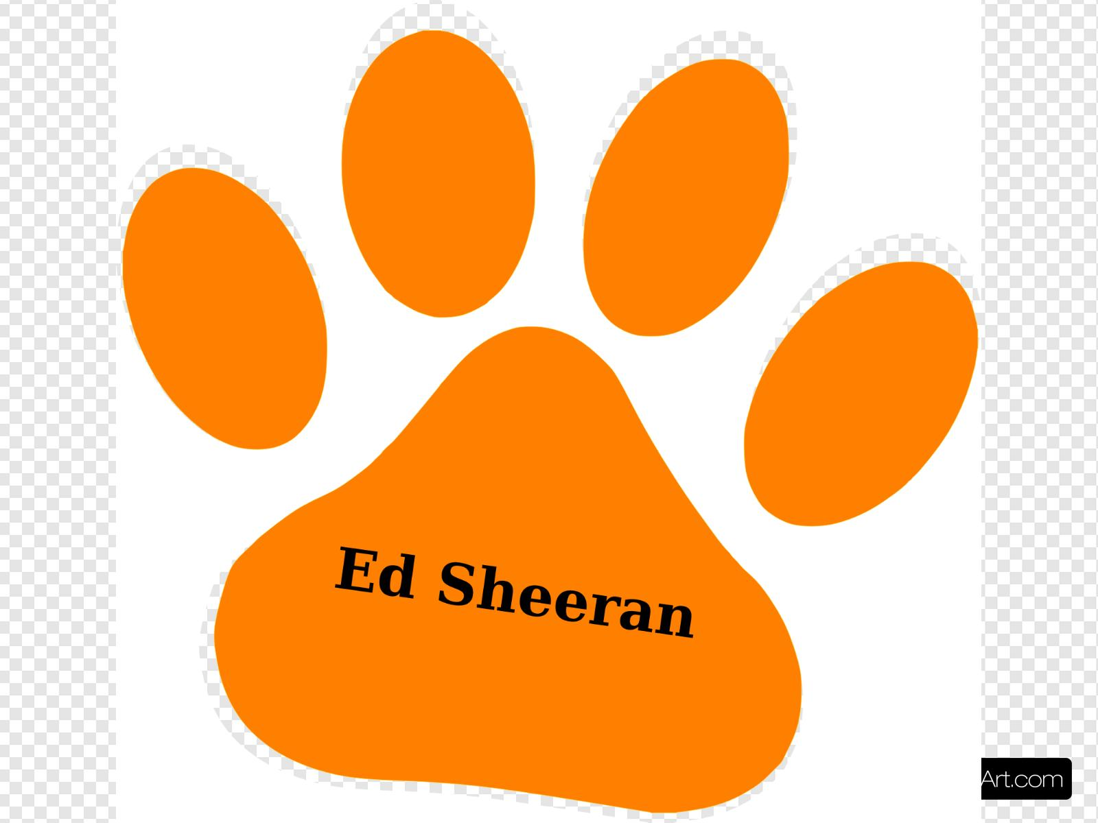 Orange Paw Ed Sheeran Text Clip art, Icon and SVG.