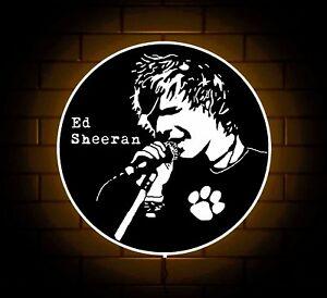 Details about ED SHEERAN LOGO BADGE SIGN LED LIGHT BOX GIRLS BEDROOM  BIRTHDAY XMAS PRESENT.