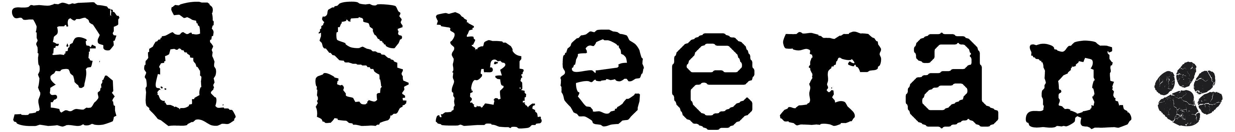 Ed Sheeran logo in 2019.