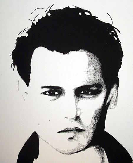 Johnny Depp the Chocolate Factory Clip Art.