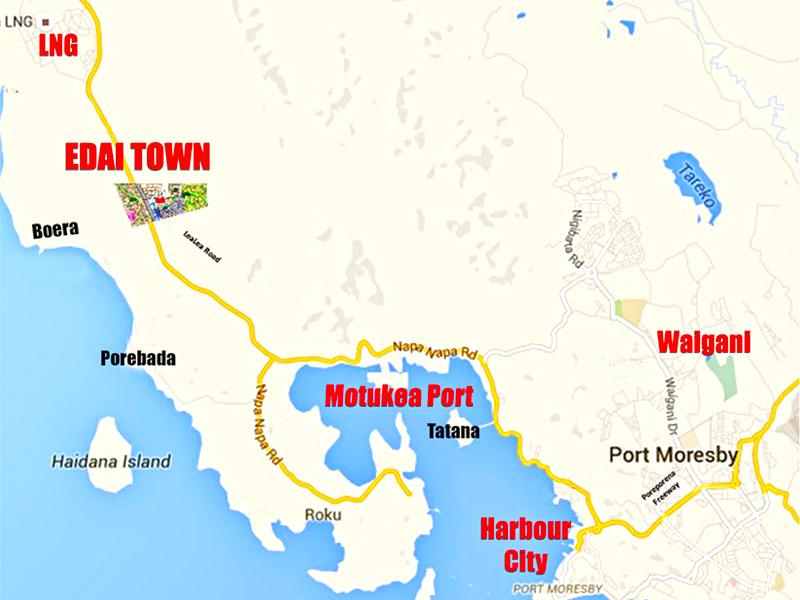 Edai Town Map.