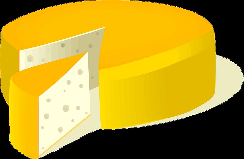 Free vector graphic: Cheese, Food, Edam Cheese, Slice.