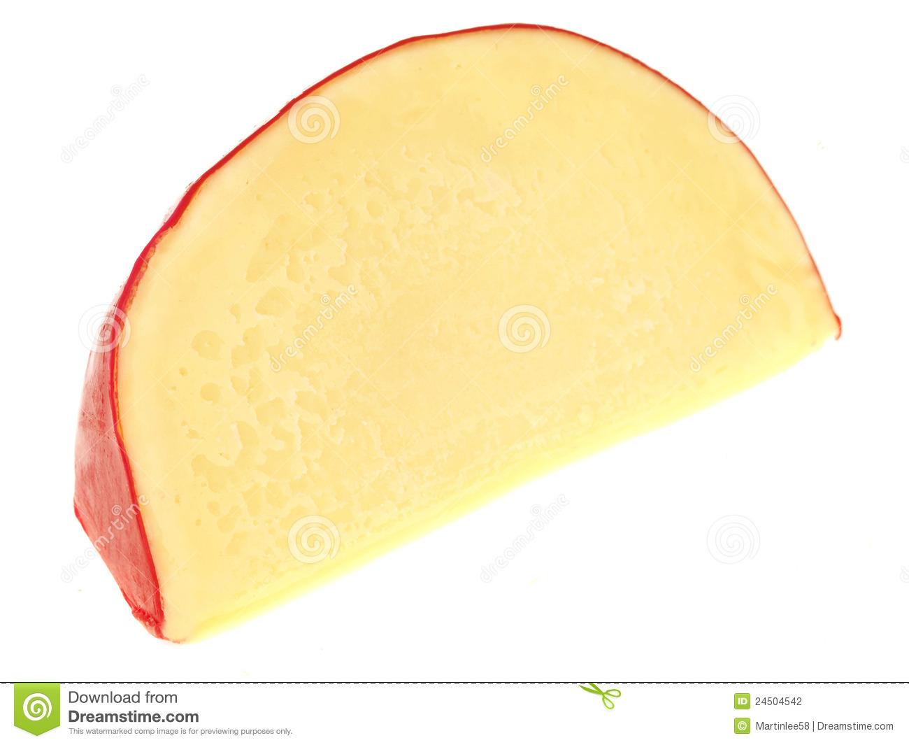 Wedge Dutch Edam Cheese Stock Photography.