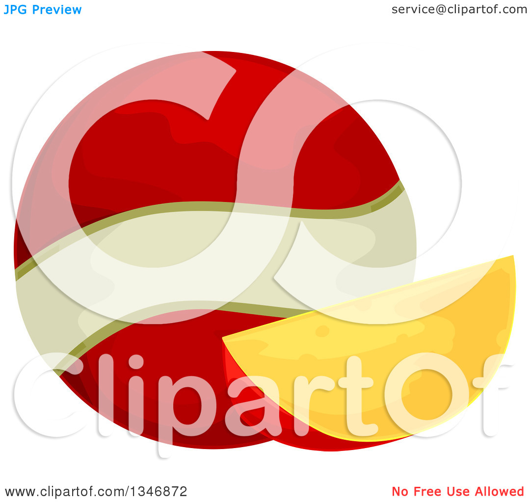 Clipart of an Edam Cheese Wedge and Ball.