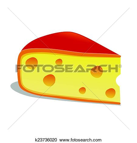 Clipart of Slice of Edam Cheese k23736020.