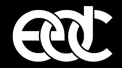 Set of (2) EDC Vinyl Die Cut Sticker Decal.