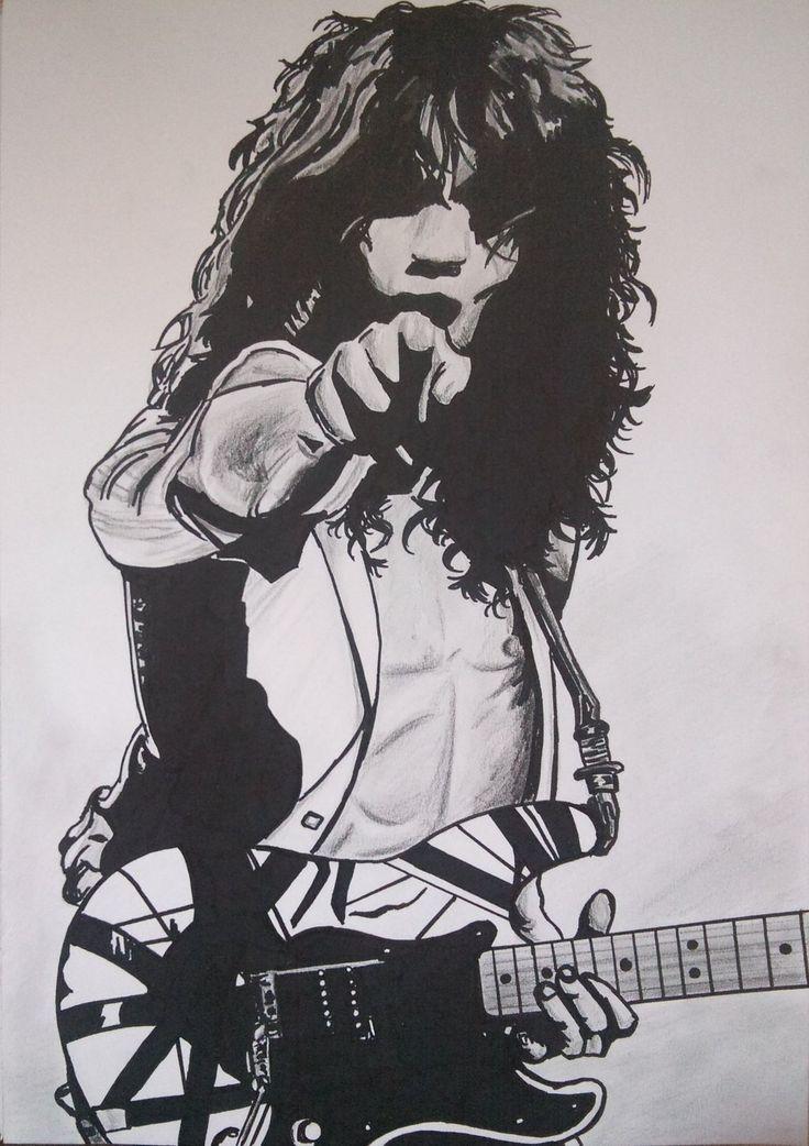 Eddie Van Halen Silhouette.