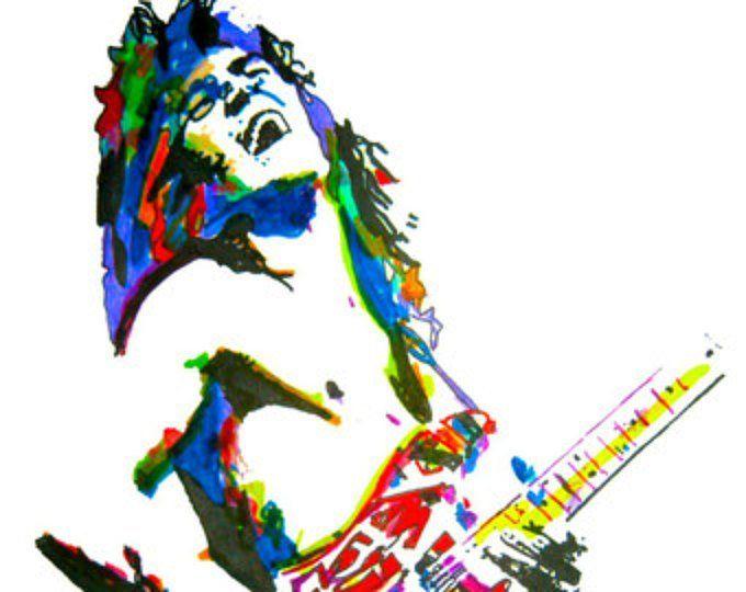 80\'s Guitar Players, Eddie Van Halen, Mark Knopfler, Kirk.