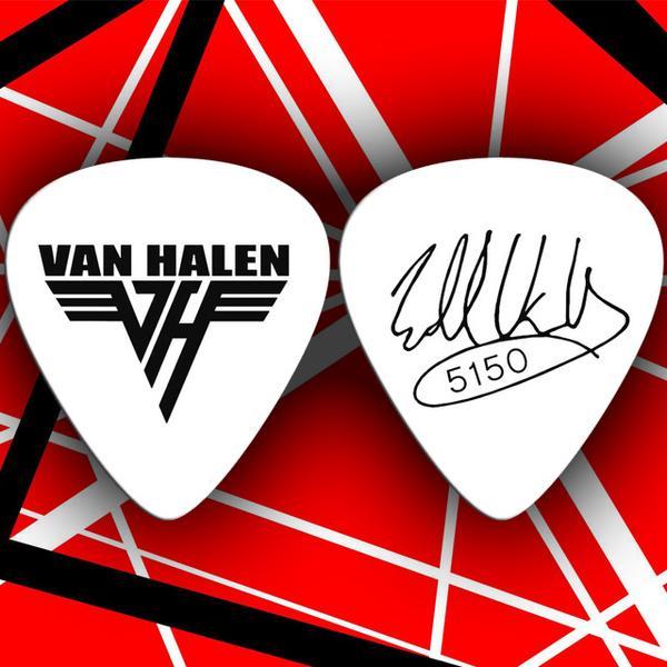 Set of 4 Eddie Van Halen Signature OU812 Tour Guitar Picks.
