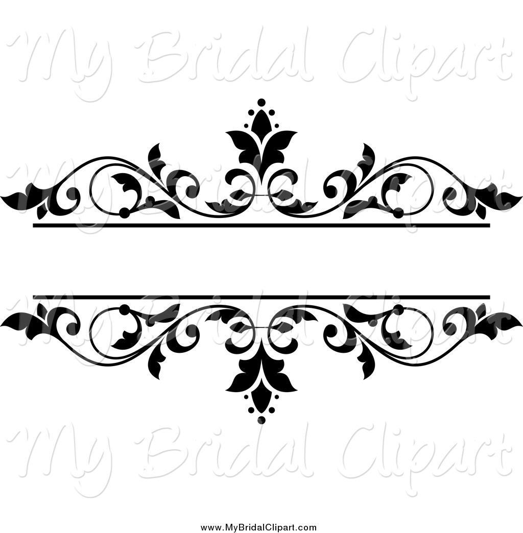 Royalty Free Stock Bridal Designs of Floral Frames.
