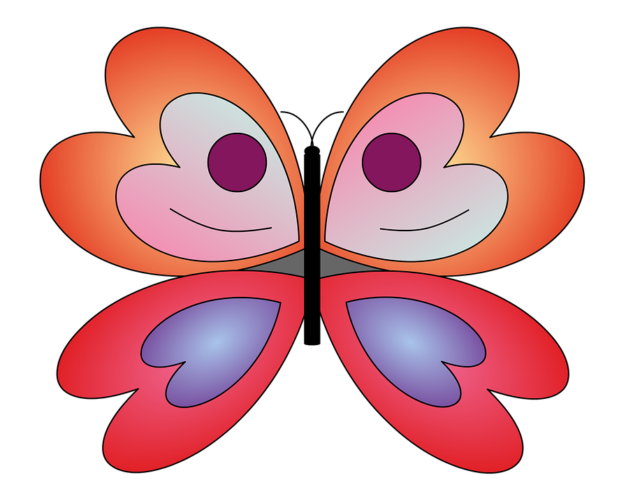Free illustration: Butterfly, Animals, Mariposa, Red.
