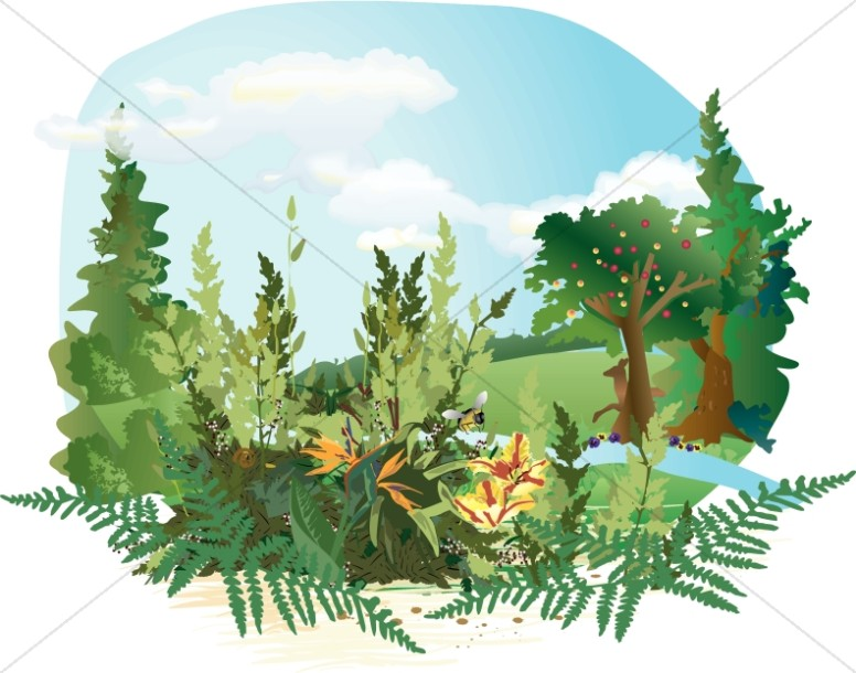 Garden of Eden Clipart.
