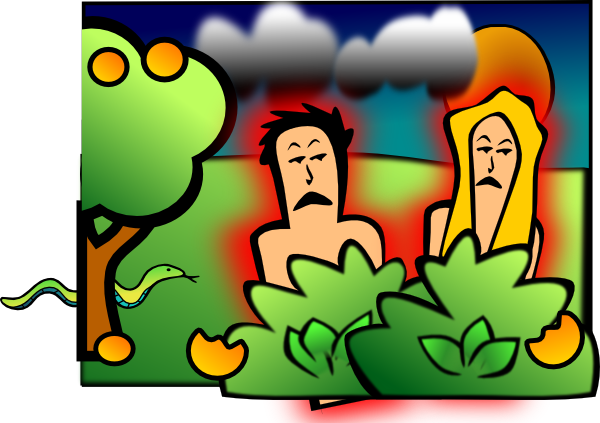 Adam Eve Sad Clip Art at Clker.com.