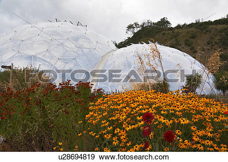 Stock Photograph of England, Cornwall, The Eden Project, The.