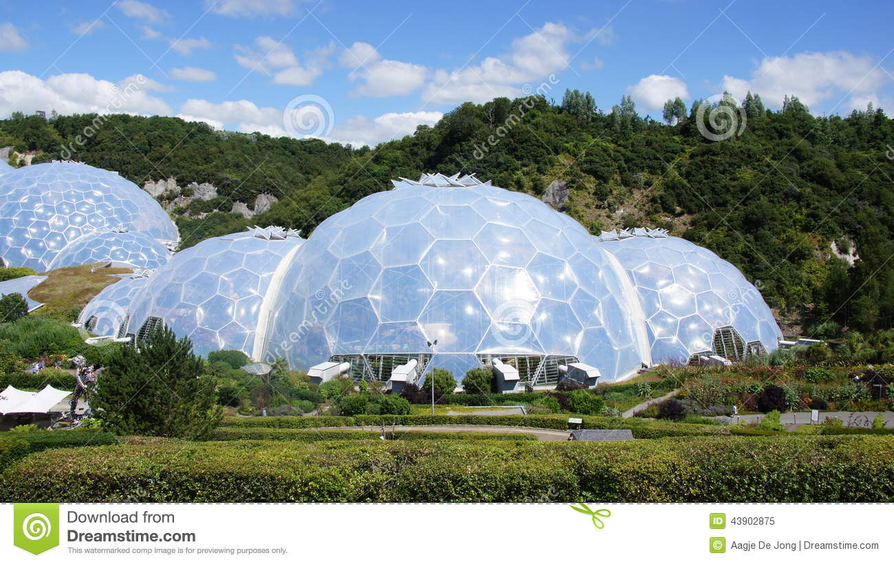 Eden Project In St. Austell Cornwall Stock Photo.