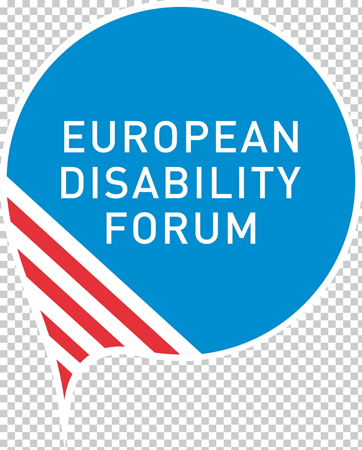 European Union European Disability Forum Organization, logo.